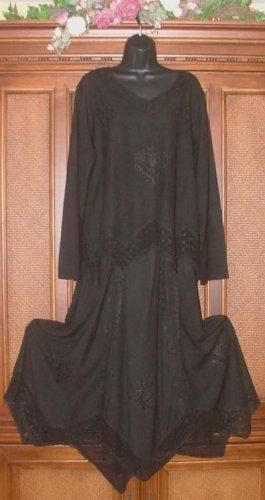 SALE Hippie Gypsy Drapey Jaggedy Elemental Outfit PLUS Sz