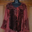 New Funky Elemental Hippie Top Red! FAB Details Blowout