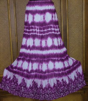 SALE Tribal Revival Brilliant Tie Dye Skirt Sized