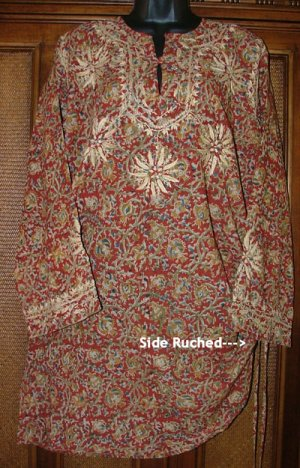 WOW Details Ruched Side Urban Hippie Tunic