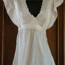 FAB Floaty Heavy Embroidery & Eyelet Hippie Top CUTE
