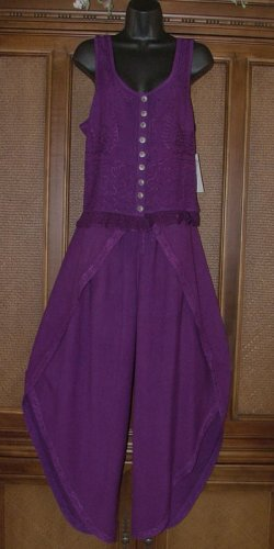 Blowout! Funky Wrap Pant 2 Piece Outfit. Purple or Black Great Summer Set