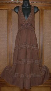 Retro Boho Hippie Dresses Black or Brown MSRP $79
