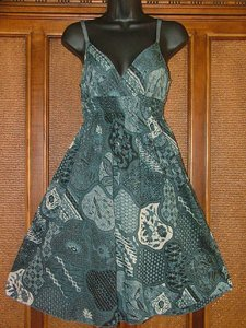 End of Summer Blowout Half Price Sun Dress Blue or Khaki M Only