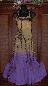 Gradient Tie Dye Long Hippie Tier Dress Retro 2 Colors BLOWOUT