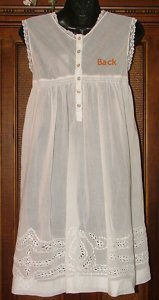 So Feminine Cotton Cutwork And Lace Baby Doll Dress Wht