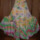 Funkygarb Rainbow Tie Dye Colors Full Spinny Skirt S-XL