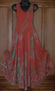 Gypsy Sweetheart Tie Dye Full Godet Bottom Spinny Dress