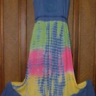 Cool Long Tie Dye Hippie Dress Crochet Detail Clr Choic