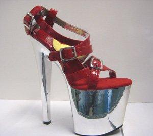 Strappy Metallic Sandal