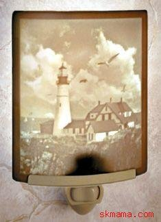 PORTLAND HEAD LIGHTHOUSE - CURVED PORCELAIN NIGHT LIGHT
