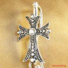 CROSS CRYSTALS BACKPACK HANDBAG PURSE FINDER CLIP CHARM
