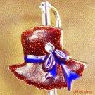 RED HAT RIBBON BACKPACK HANDBAG PURSE FINDER CLIP CHARM