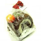 Gift Wrapped 2 Tone Roll Cake 2 Hand Towels Wash Cloth Chocolate and Vanilla with Cherry Magnet