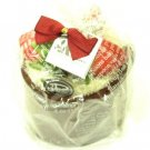 Gift Wrapped Mini Cake 2 Hand Towels Wash Cloth Chocolate and pink with 3 Strawberries Magnet