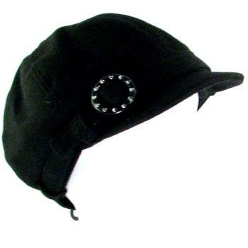 NEW NEWSBOY CABBIE BERET BELT BUCKLE CAP HAT BLACK