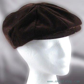 NWT BROWN CORDUROY NEWSBOY GATSBY CABBIE CAP HAT L/XL