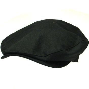 COTTON LINEN DUCK BILL LINED IVY CABBY CAP HAT BLACK ML