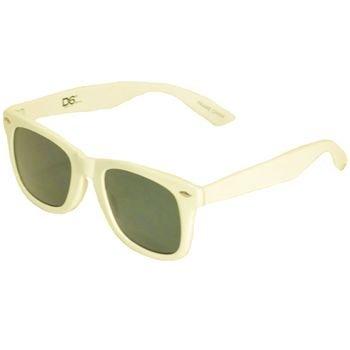 1908s Wayfarer Blues Brothers Style Sunglasses White