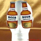 BROWN BEER BOTTLE FRAT KEG PARTY COSTUME GAG SUNGLASSES