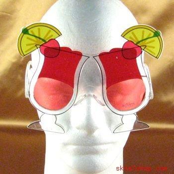 HURRICANE DRINK FRAT KEG PARTY COSTUME GAG SUNGLASSES