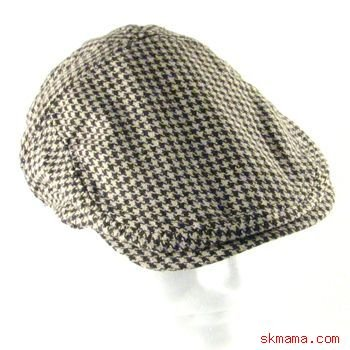 HOUNDSTOOTH WEAVE IVY DRIVING GOLF CAP HAT BROWN L/XL
