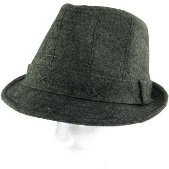 NEW WOOL QUAD STINGY FEDORA TRILBY HAT CHARCOAL L/XL