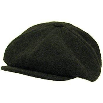100% Wool Front Snap Newsboy Gatsby Cap Hat Brown M/L