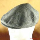 WOOL HERRINGBONE IVY  DRIVING GOLF CAP HAT CHARCOAL M/L