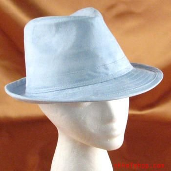 BLUE FEDORA TRILBY GANGSTER GODFATHER THEATRE DANCE HAT