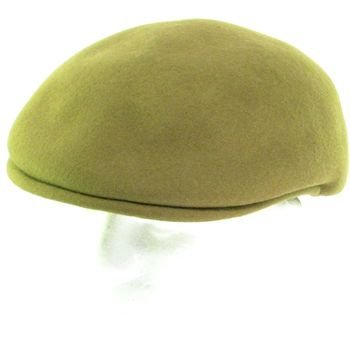 100% WOOL FELT ASCOT IVY DRIVER CABBIE HAT CAP CAMEL XL