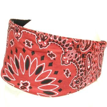 CHOPTOP BANDANA HEAD DOO WRAP SCARF BIKER ROCKER RED