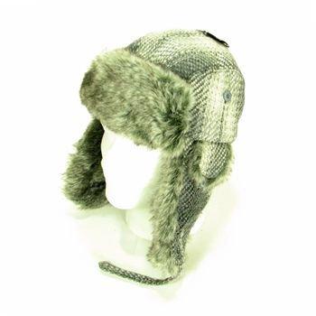 New Faux Fur Wool Woven WinterTrooper Ski Hat Gray M/L