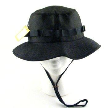 JUNGLE BOONIE FISHERMAN HUNTING BUCKET HAT * BLACK MED