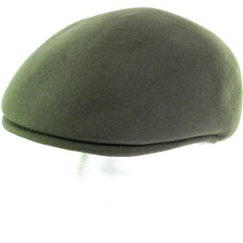 100% WOOL FELT ASCOT IVY DRIVER CABBIE HAT CAP GRAY L