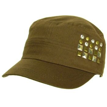 New Metal Castro GI Military Cadet Lined Hat Cap Brown