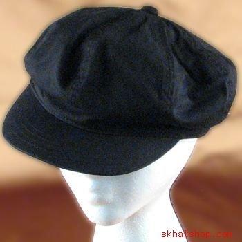 UNISEX COTTON WASH NEWSBOY GATSBY DRIVING HAT CAP BLACK