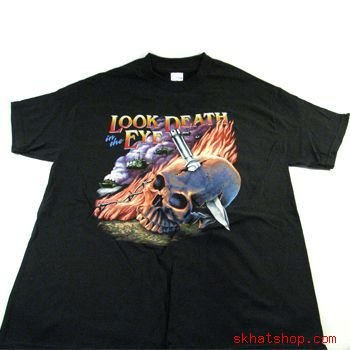 Look Death in the Eye, SHORT SLEEVE BLACK T-SHIRT LARGE