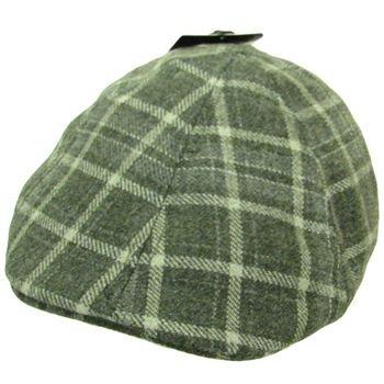 NWT Wool Plaid panel Duck Bill Ivy Cabbie Hat Gray