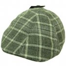 NWT Wool Plaid panel Duck Bill Ivy Cabbie Hat Gray