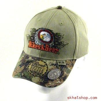 BIKES & BEER - BOTTLE CAP OPENER CAMO HUNT FISH CAP HAT