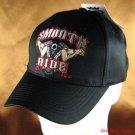 """Smooth Ride"" BIKER COTTON POLY BASEBALL CAP BLACK ADJ"