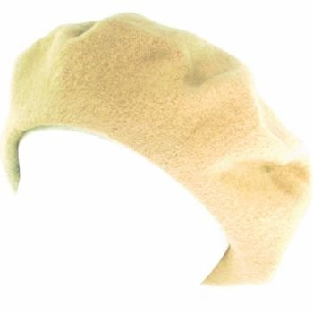 NWT 100% WOOL FRENCH BERET TAM  BEANIE SLOUCH HAT CAMEL