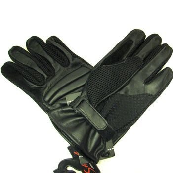 Men's Leather Light Mesh Padded Biker Driver Gloves 2XL