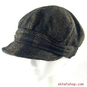 NWT WOOL FOLDABLE NEWSBOY OVERSIZE DRIVER CAP HAT BROWN