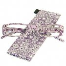 Psychedelic Rectangle Clear Eye Glasses Case Purple