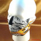 SKULL FLAME NEOPRENE HALF FACE MASK NOSE MOUTH VENTED