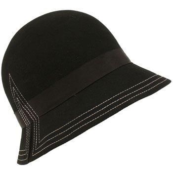 San Diego Hat Co Wool Stitch Winter Cloche Bucket Black
