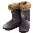 Winter Warm Faux Fur Indoor Boots Slippers Purple S 5-6