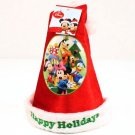 Kids Disney Mickey Minnie Velour Santa Christmas Hat